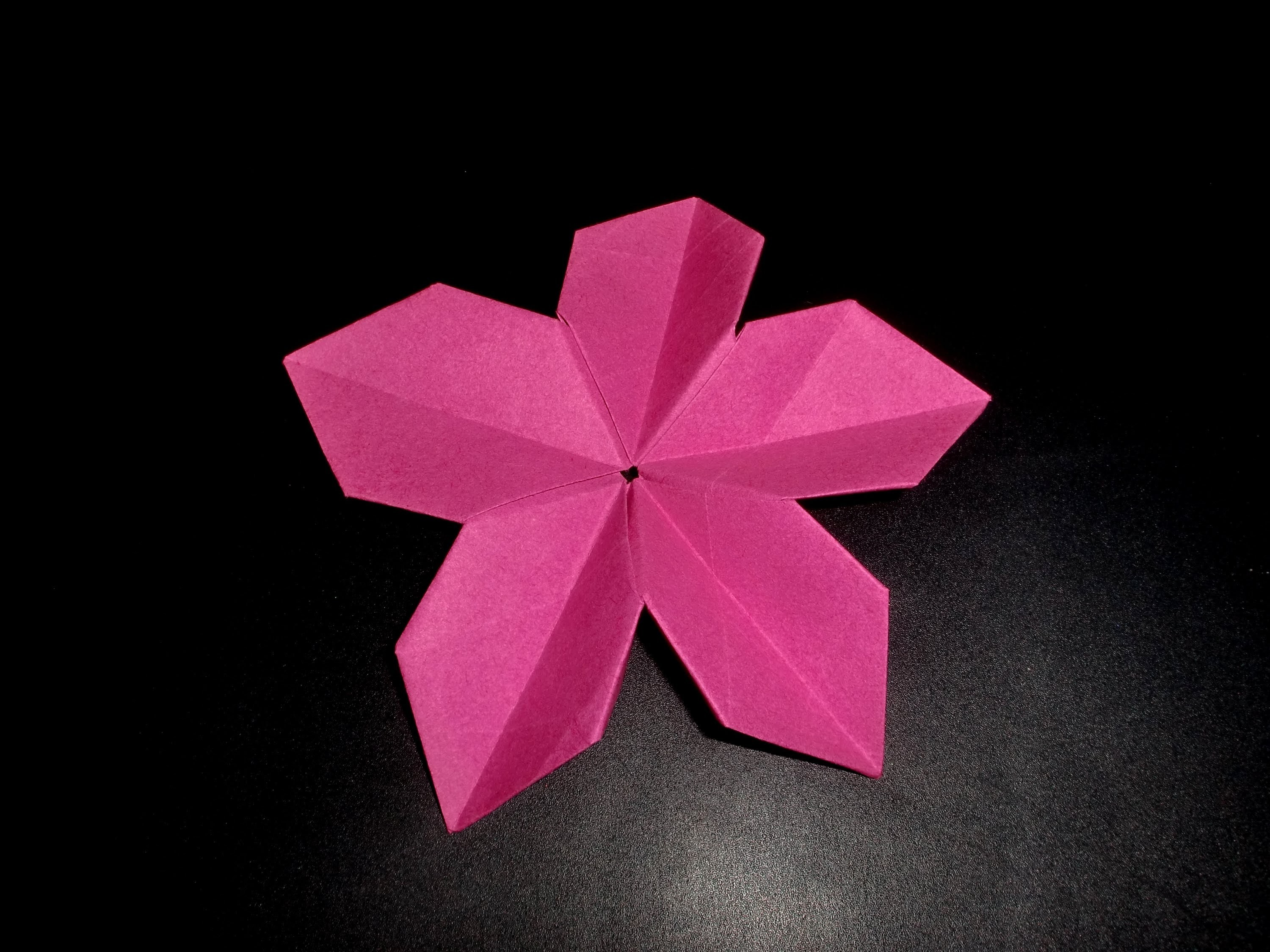 Origami Apfelblüte: Apple-Bloom - Tutorial [HD]