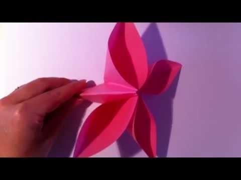 Origami Blume selber basteln - Papierblume falten