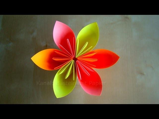 Origami Blumen falten - DIY Blumen basteln mit Papier - Einfache Bastelideen
