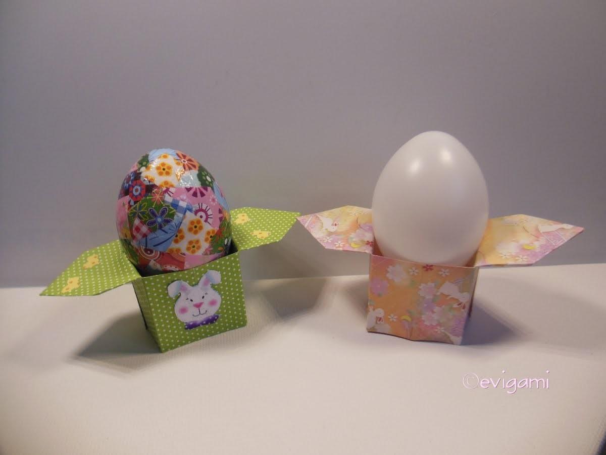 Origami-Eierbecher , nicht nur für den Ostertisch