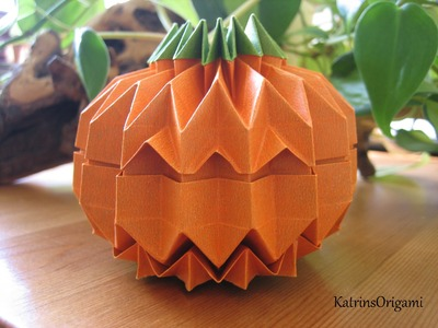 "Origami Jack O´ Lantern how to fold a ""Grid"""