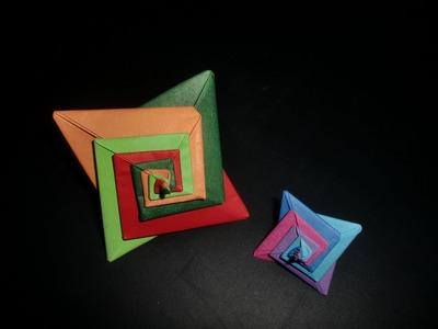 Origami Spiralstern: Coulored Stars - Tutorial [HD.deutsch]