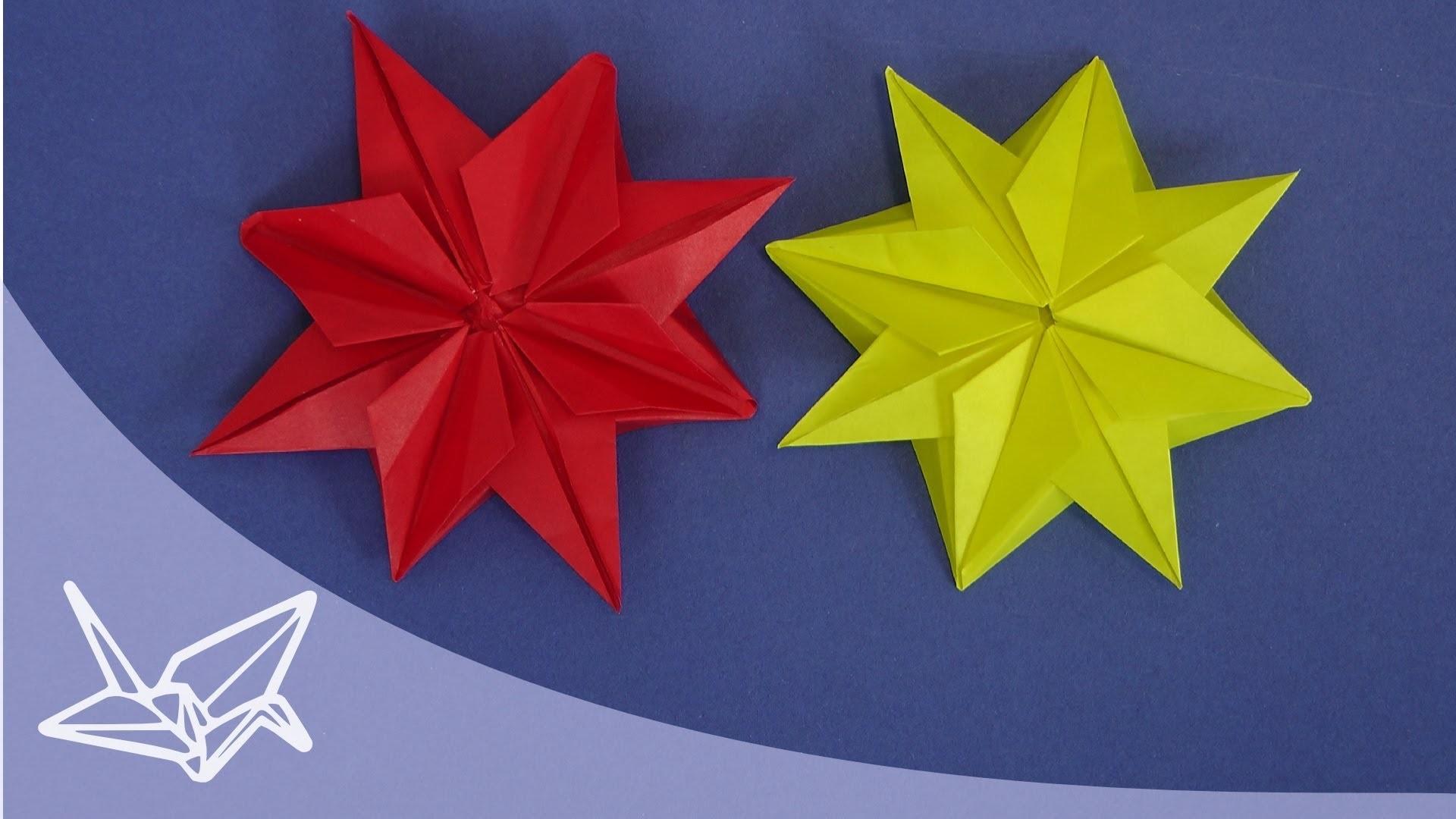 Origami Stern für Weihnachten - Faltanleitung