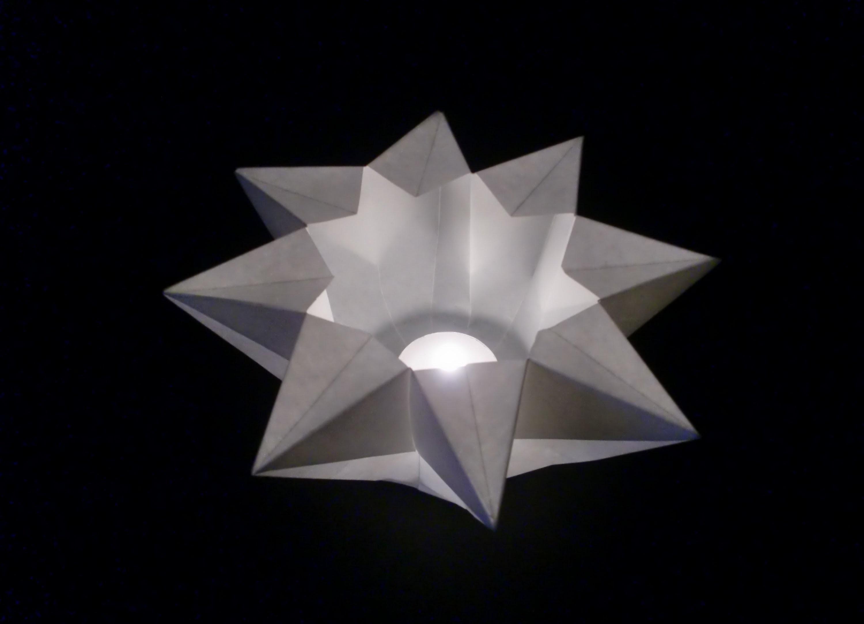 Origami Teelichtstern: Teacandle Star - Faltanleitung [HD.deutsch]