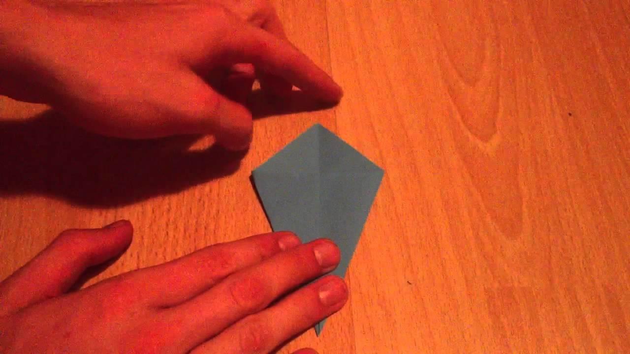 Origami Wal selber basteln - Bastelanleitung Papier Wal