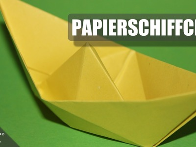 Papierschiff. Paper Boat . Origami. Papierschffchen