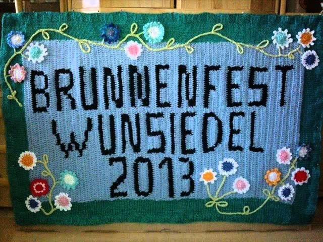 Radio Galaxy Bayreuth Hof Interview Urban Knitting beim Wunsiedler Brunnenfest