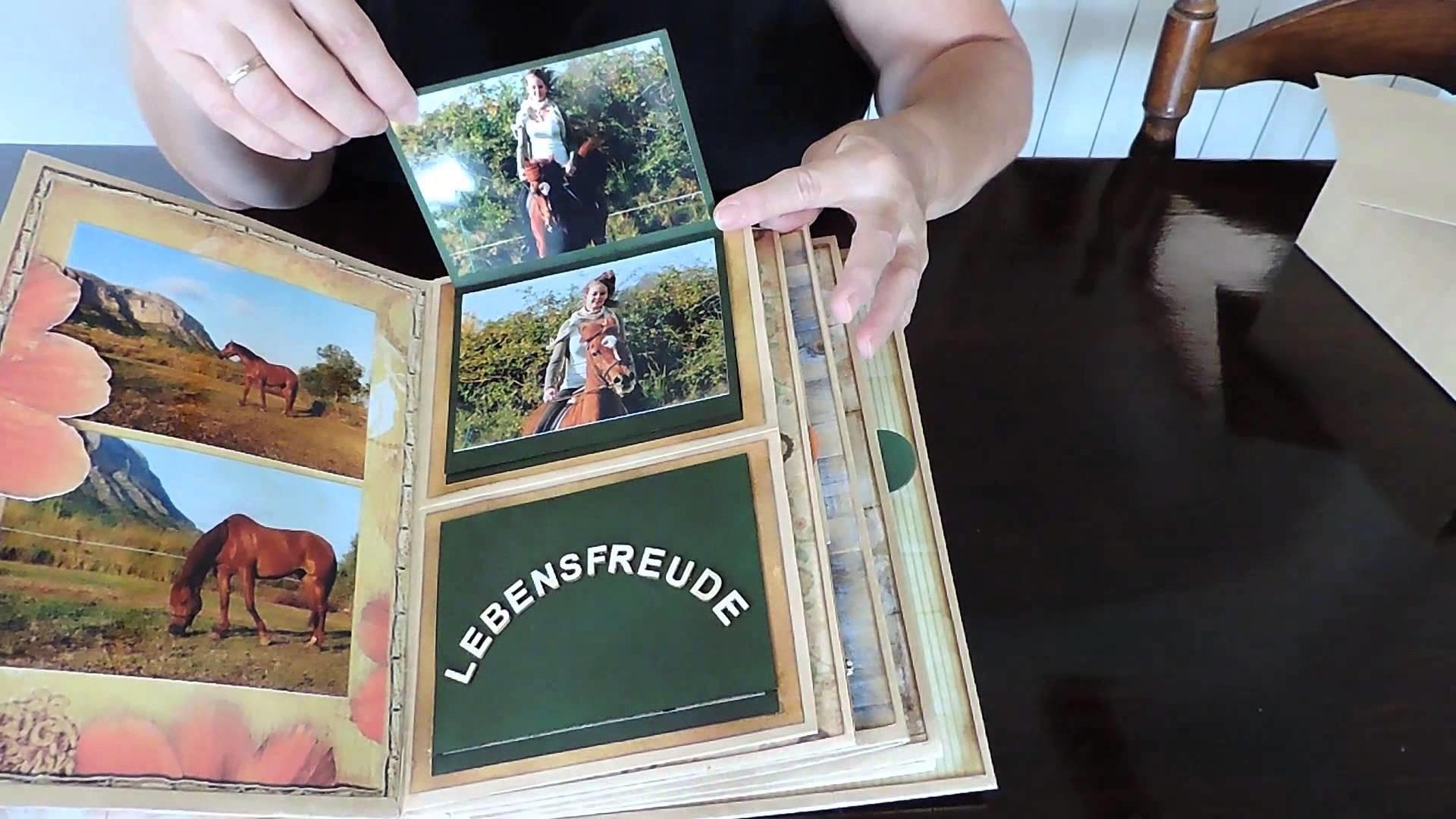 """Scrapbook Mini Album """"Horse Riding Memories"""""""