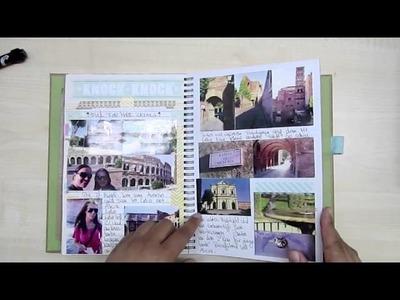 Smash Book als Reisetagebuch. Travel Journal ROM