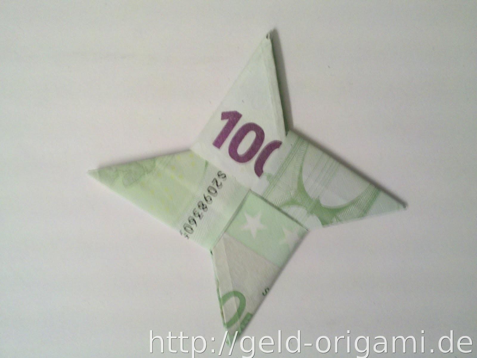 Stern aus zwei Geldscheinen falten - Stern mit Origami - Geldgeschenk