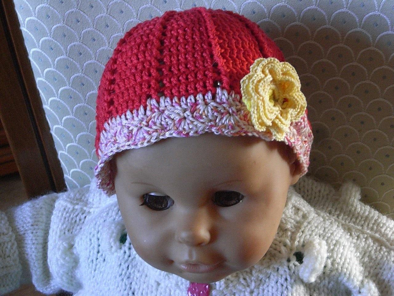 Teil 1*Baby Mütze Häkeln*Sommer Mütze*Baby hat crochet*summer cap*Tutorial