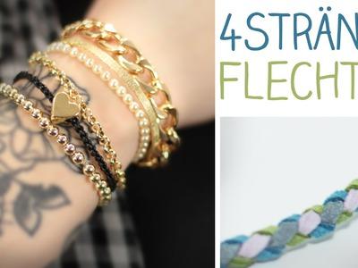 DIY 4 Stränge rundflechten - Haare, Kette, Armband - ganz einfach
