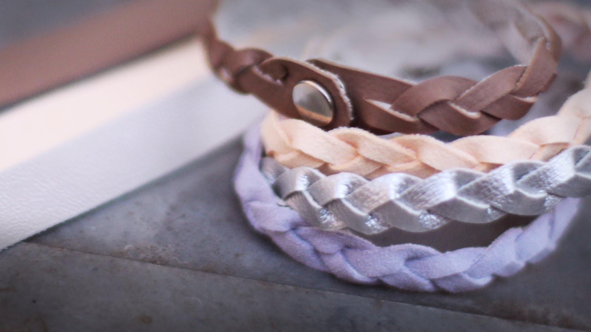 DIY Flechtarmband aus einem Stück - kein Kleben - alive4fashion