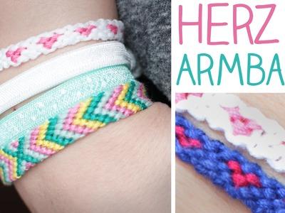 DIY HERZ Knüpfarmband für beste Freunde! BFF Armband