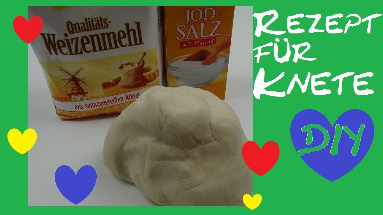 DIY Knete selber machen. einfaches Rezept für Salzteig. Alternative zu Play-Doh oder Fimo