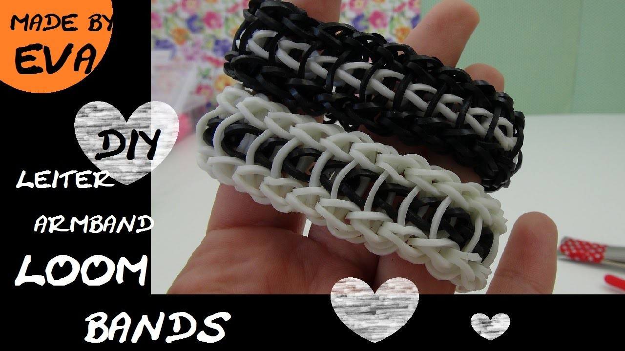 DIY Rainbow Loom Leiter Armband deutsche Anleitung GABEL - Loom Bands Ladder Bracelet Tutorial FORK