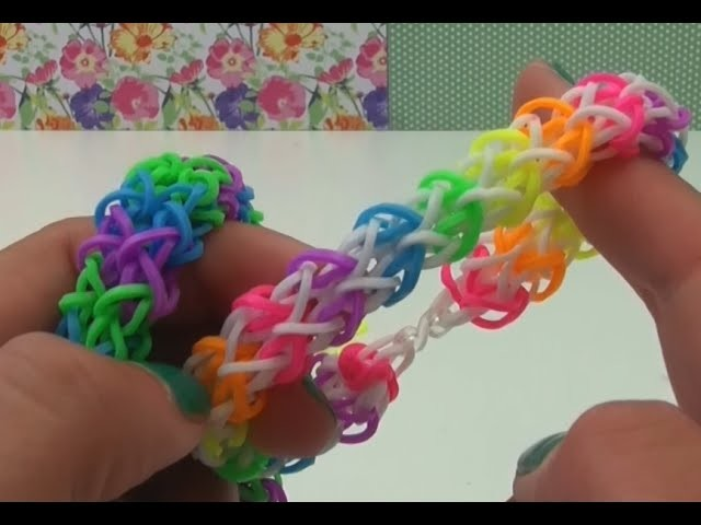 DIY zickzack Loom Armband mit Gabel Anleitung deutsch - Rainbow Loom zigzag bracelet with Fork