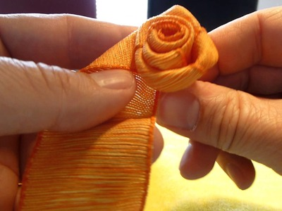 Einfache Rose selber binden, do it yourself ribbon rose