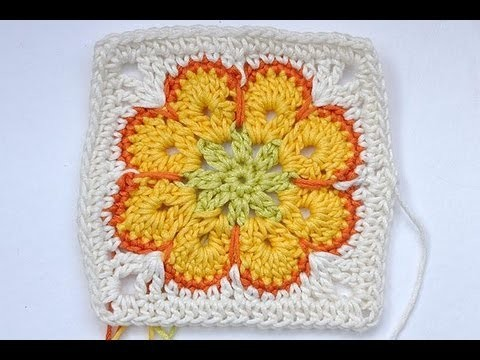 "Häkeln * Granny Square ""Somalia"" * African Flower * Paperweight"