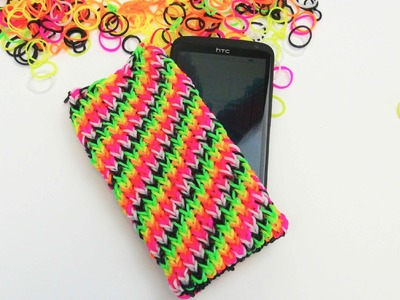 Loom Bands Handyhülle HTC ONE Smartphone Case with the Rainbow Loom Tutorial | deutsch