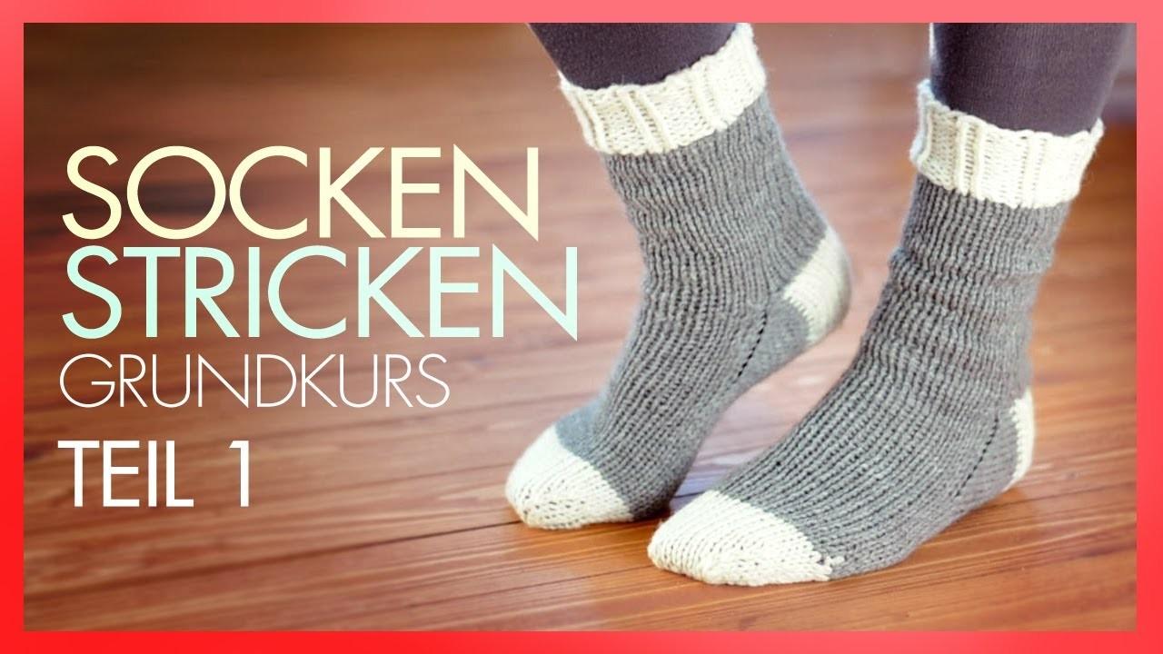 Socken Stricken mit Rundstricknadeln *TEIL 1 GRUNDKURS*