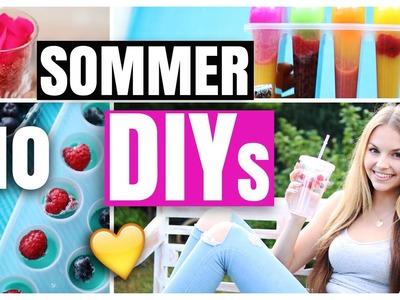 10 SOMMER DIYs | GESUNDES EIS, KIMONO, COOLE EISWÜRFEL, ROSEN BODY SCRUB | xLaeta