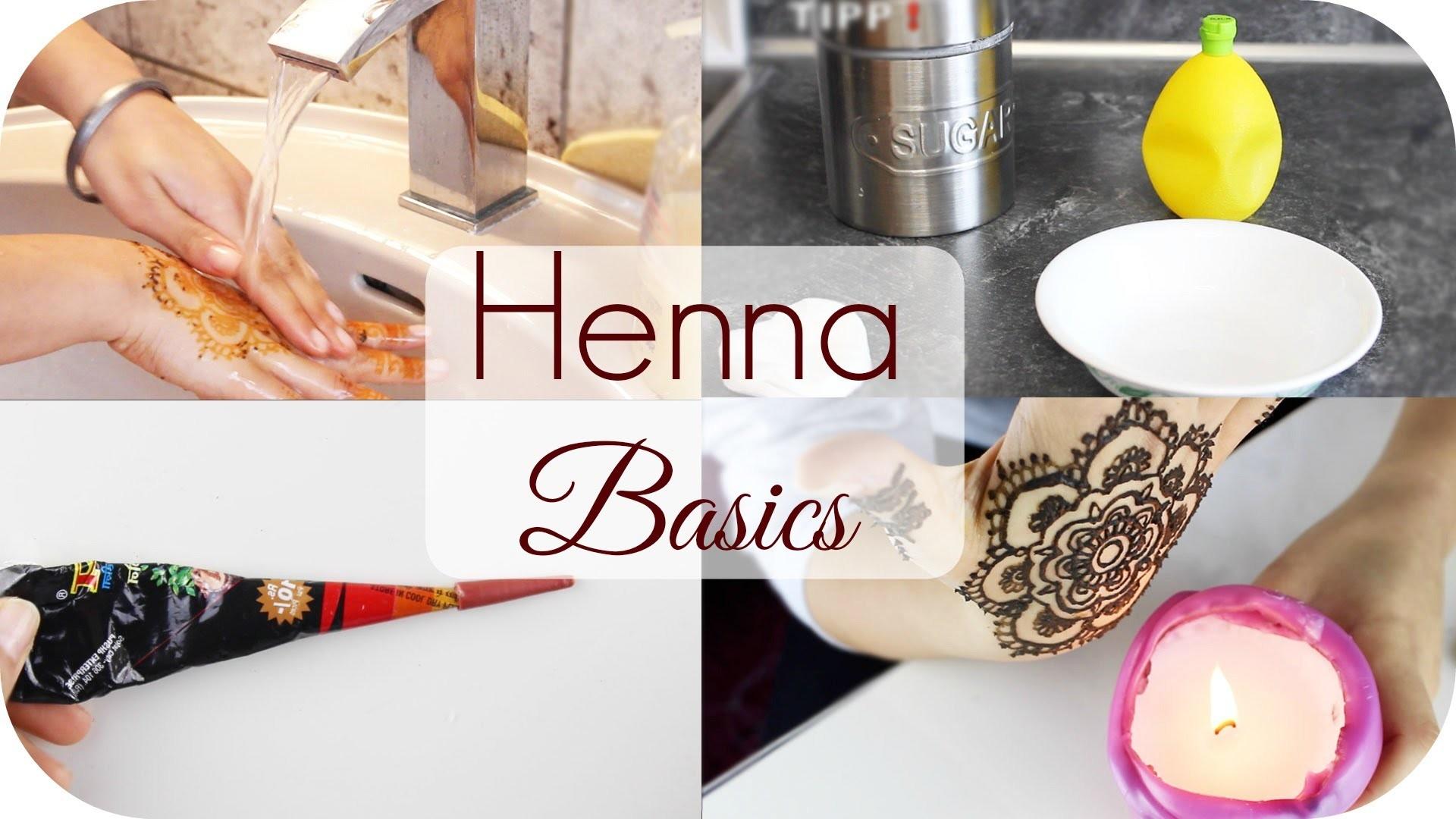 Auftrag. Motive. Abwaschen - Henna Basics