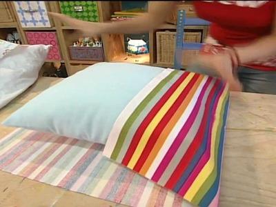 Bastelanleitung: Kissenbezüge ohne Reißverschluss oder Druckknöpfe nähen & gestalten