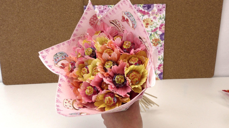 """Blumenstrauß aus """"Chupa Chups"""". DIY Geschenkidee. Süßigkeitenblumen. Candy Bouquet. deutsch"""