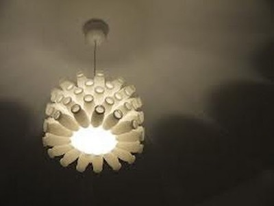 DIY Actimel Lampe - Recycling