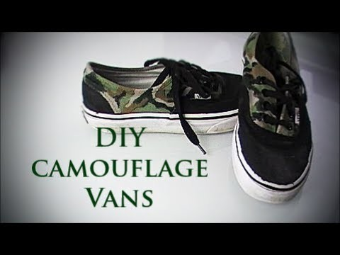 DIY camouflage vans.shoes + military Outfit