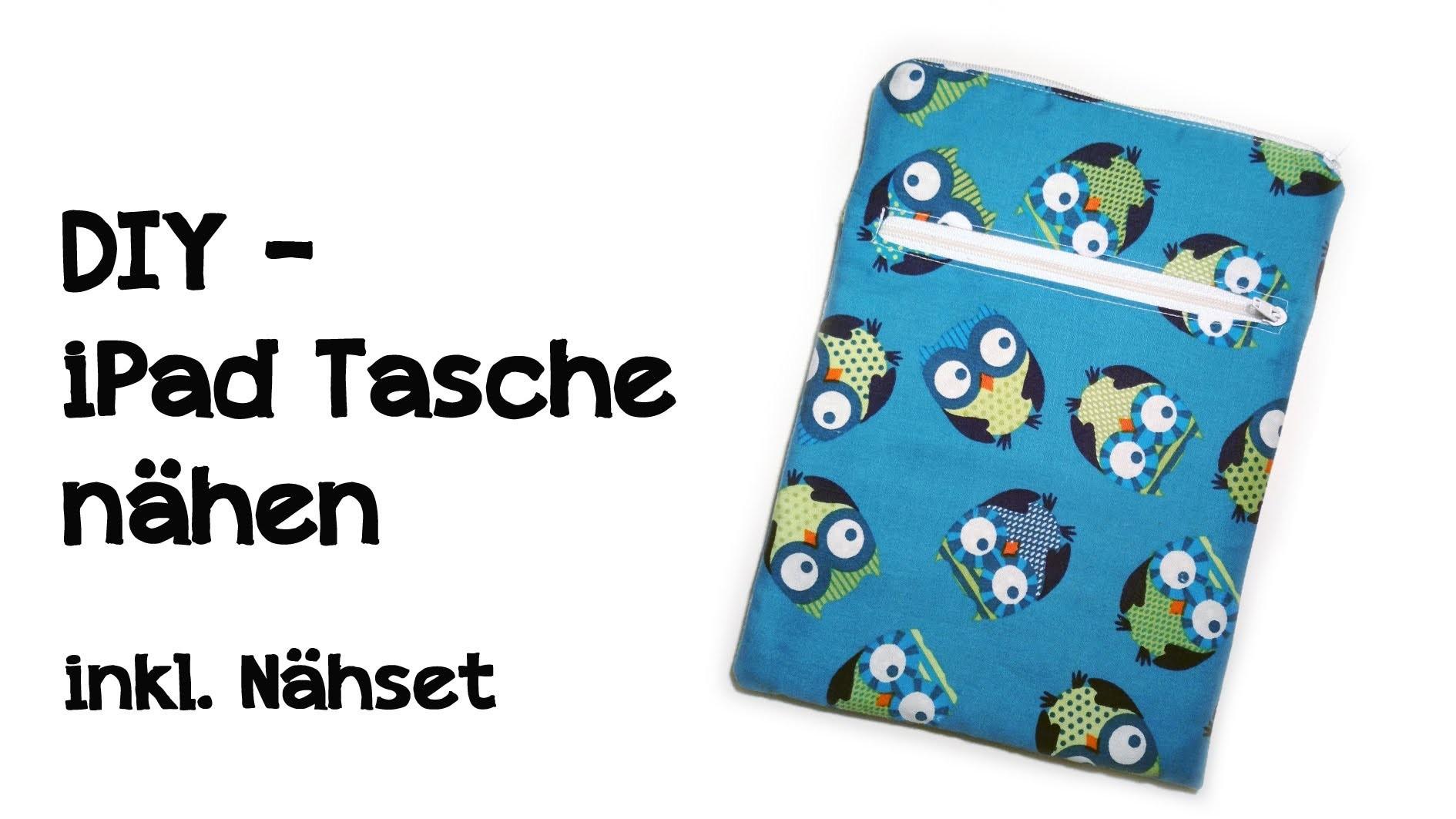 DIY - iPad Tasche. kindle Tasche nähen - inkl. Nähset zum nachmachen!