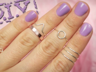 DIY Knöchelringe aus Draht, Knuckle Rings - geometrische Muster - Sommertrend