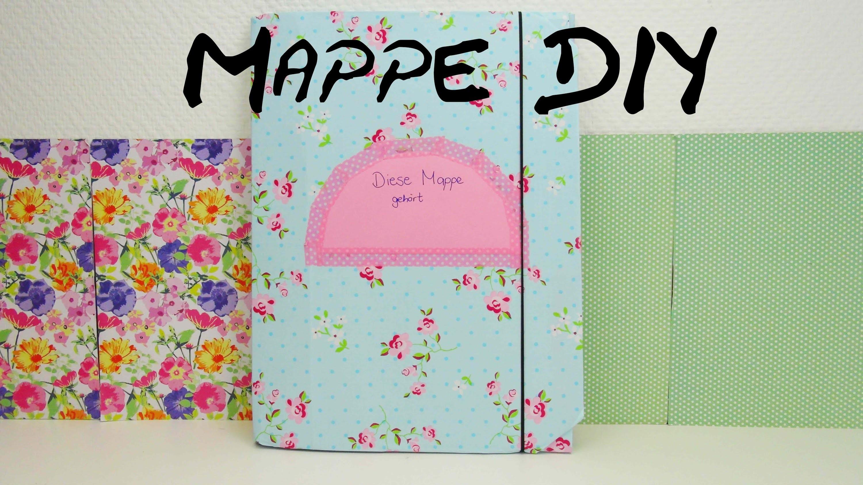 DIY Mappe | Back to School | Mappe gestalten aus einfacher Pappe | Anleitung | deutsch