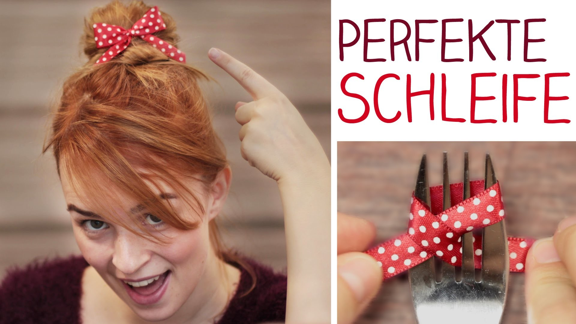 DIY perfekte Schleife in 30 Sek mit Gabel?! Haare,Geschenke,Deko - Weihnachten - alive4fashion
