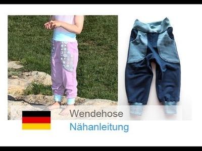"DIY Pumphose, Wendepumphose selber nähen, ""Felix"", nähen für Anfänger"