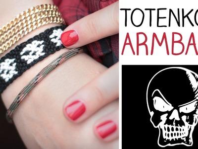 DIY Totenkopf Armband - Halloween - knüpfen, knoten - cool