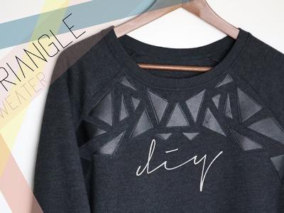 DIY Triangle Sweater