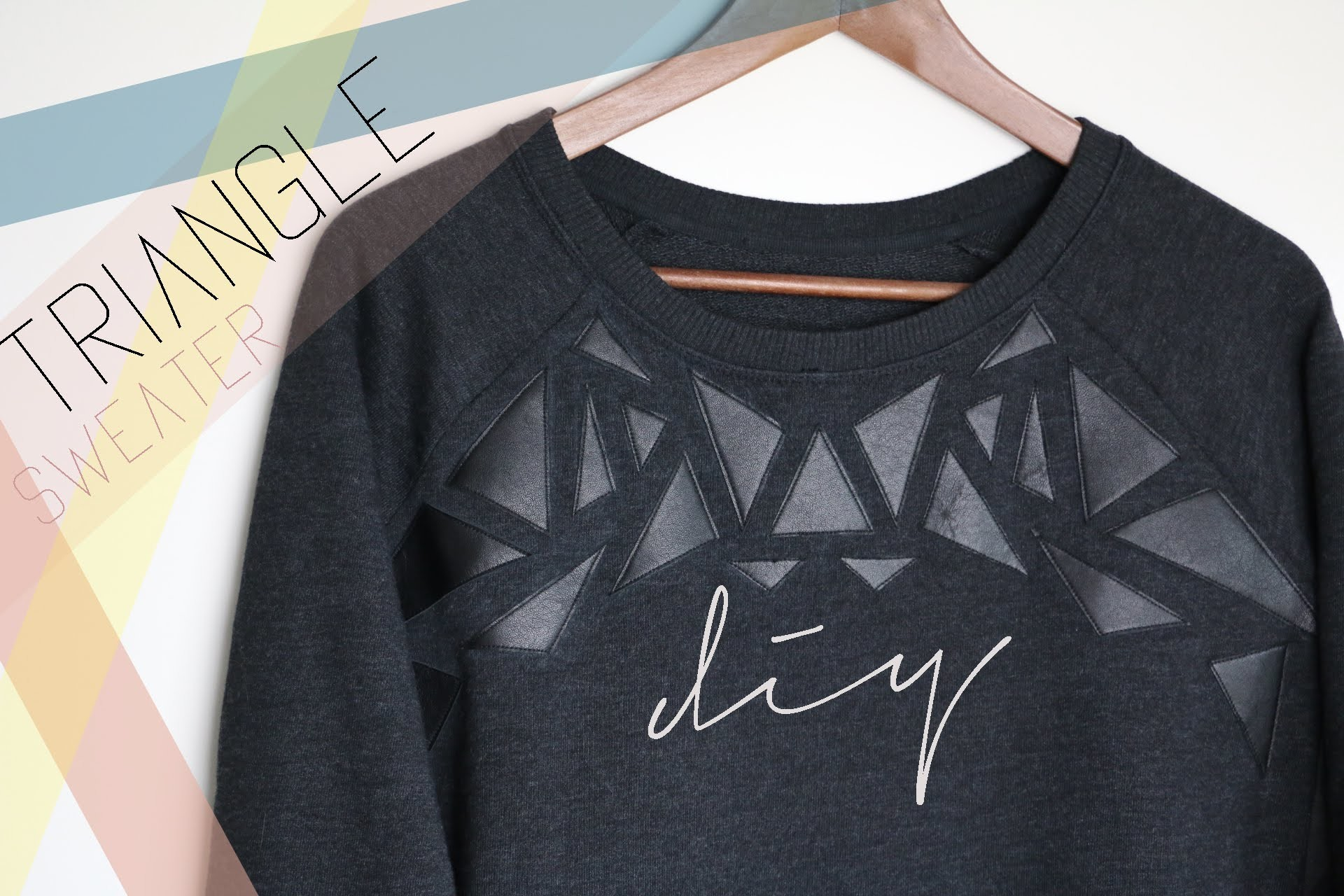 DIY Triangle Sweater