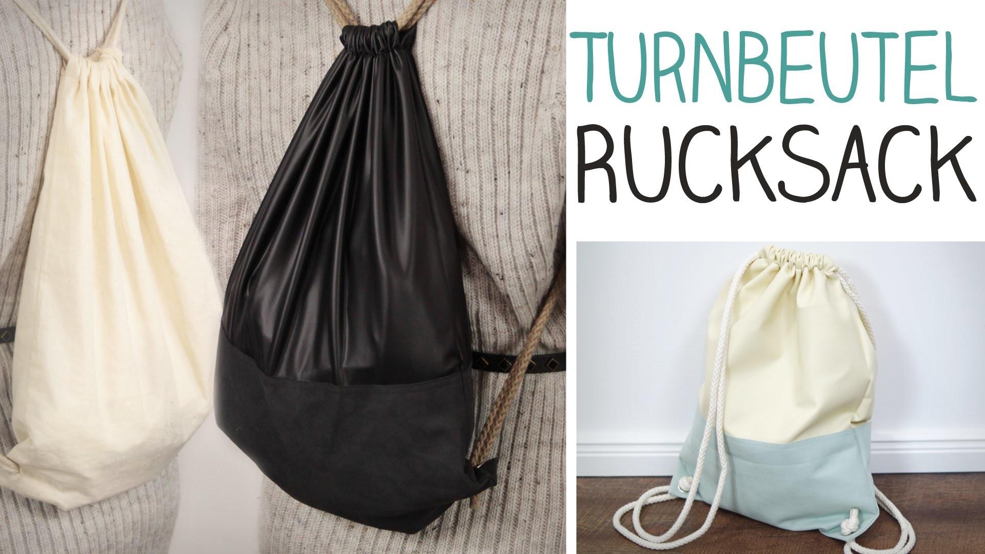 DIY Turnbeutel RUCKSACK nähen für Anfänger - stylischer Taschenersatz - alive4fashion