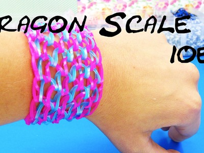 Dragon Scale Rainbow Loom deutsch 10er Drachenschuppen Armband mit KAMM Tutorial | deutsch