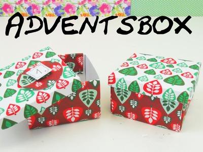 Geschenkbox basteln DIY Weihnachts- Geschenkebox Anleitung Adventskalender Schachtel | deutsch