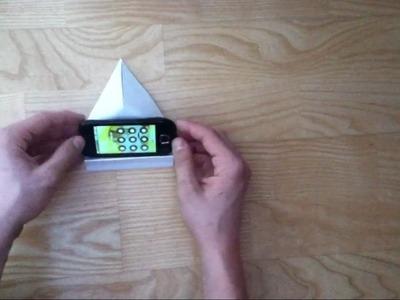 Handyständer aus Papier basteln - eine Anleitung