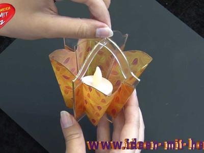 Ideen mit Herz - Tischleuchte aus Deko-Laterne basteln