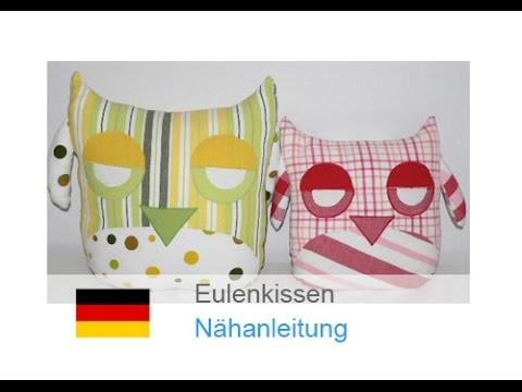 Kissen, EULENKISSEN nähen - für Nähanfänger - Anleitung & Schnitt auf Zierstoff.de