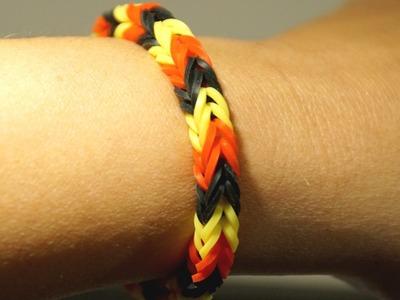 Loom Bands Armband Fischgräten basteln, für Anfänger, Anleitung Deutsch in HD