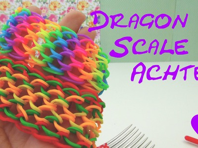 Loom Bands Dragonscale deutsch Achter Drachenschuppen Armband ohne Loom Anleitung Tutorial deutsch