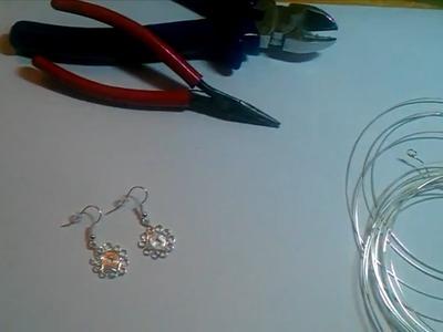 Ohrringe selber machen - Anleitung für Blümchenohrringe aus Silberdraht