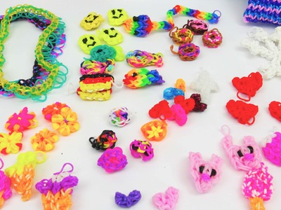 Rainbow Loom Charms. Anhänger Übersichtsvideo. All of my Rainbow Loom Charms | deutsch