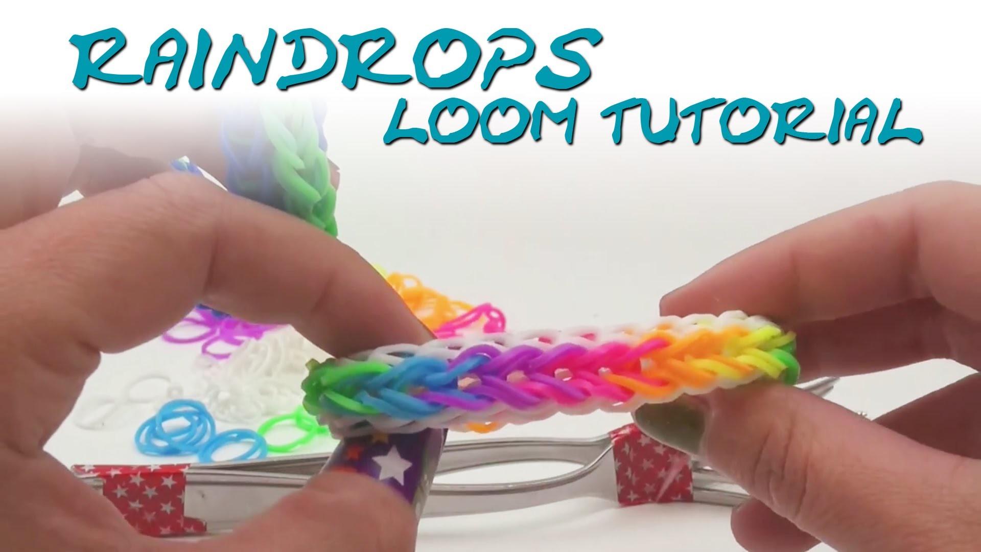 Rainbow Loom Raindrop Armband Anleitung deutsch mit Gabel How to make the raindrop bracelet